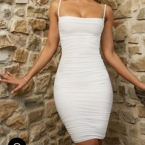 Oh Polly Mesh White Dress *limited time*